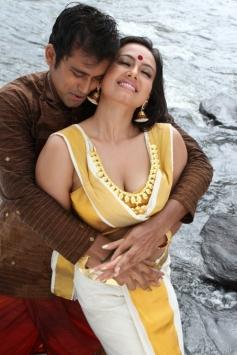 Sana Khan and Aravind Akash in Telugu Movie Gajjala Gurram