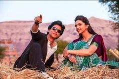 Shahrukh Khan and Deepika Padukone still from Chennai Express