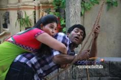 Vishal and Anjali in Tamil Movie Madha Gaja Raja