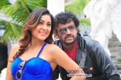Vyalari and Amogh in Kannada Movie Pora