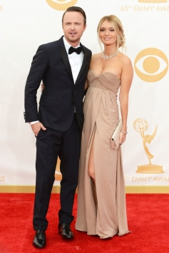Aaron Paul and Lauren Parsekian at 65th Emmy Awards 2013