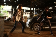 Actor Ranbir Kapoor action still from Besharam
