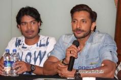 Actors at Film Mamu Tea Angadi Press Meet