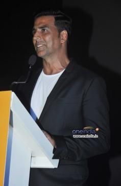 Akshay Kumar address media during the inauguration of 4th Jagran Film Festival