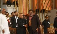 Ambareesh at 100 Years of Indian Cinema Celebration Closing Ceremony Photos