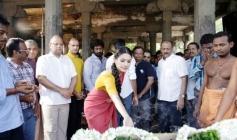 Amyra Dastur at Anegan Movie Launch