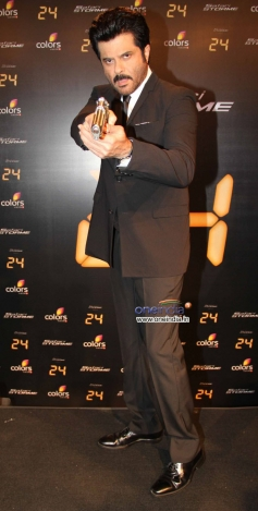Anil Kapoor action pose at launch of Anil Kapoor's 24 series