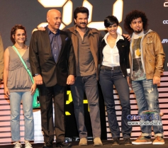 Anil Kapoor along with Mandira Bedi during the COLORS tv show 24 series launch