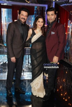 Anil Kapoor, Madhuri Dixit and Karan Johar during 24 India tv show promotion