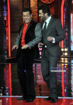 Anil Kapoor and Salman Khan during 24 tv show promotion