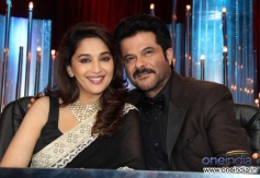 Anil Kapoor with Madhuri Dixit during 24 India tv show promotion at JDJ 6 show