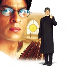 Amitabh Bachchan and Shah Rukh Khan in Mohabbatein