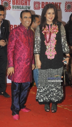 Yogesh Lakhani with Poonam Dhillon on his birthday party