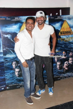 Mushtaq Sheikh and Shabbir Ahluwalia at special screening of Warning