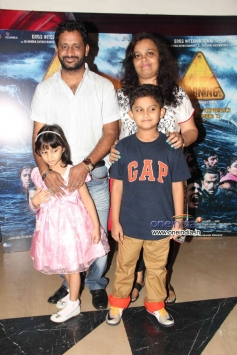 Resul Pookutty with his family at special screening of Warning