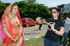 Charmy Kaur and Nisha Kothari at Criminals Movie Launch