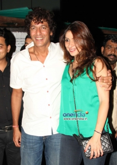 Chunky Pandey along with his wife Bhavna Pandey during his Birthday Bash