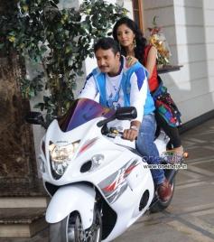 Darshan and Milana in Kannada Film Brindavana
