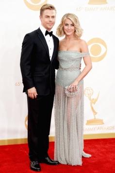 Derek and Julianne Hough at 65th Emmy Awards 2013