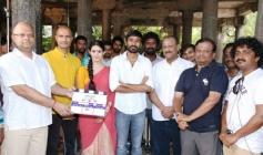 Dhanush, Amyra Dastur, Director KV Anand at Anegan Movie Launch