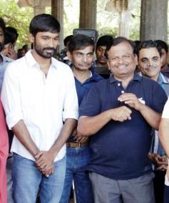 Dhanush, Director KV Anand at Anegan Movie Launch