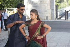 Dhanush & Nazriya Nazim pics from Naiyandi Movie