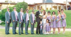 Ex-Miss World Diana Hayden &  Collin Dick and their Family