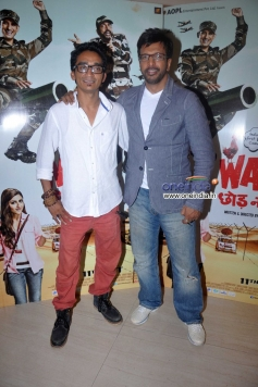 Faraz Hayeder and Javed Jaffrey during War Chhod Na Yaar film press conference