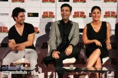 Punit Malhotra, Karan Johar and Kareena Kapoor during the first look launch of Gori Tere Pyaar Mein