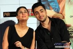 Kareena Kapoor cute pose with Imran Khan during the first look launch of Gori Tere Pyaar Mein