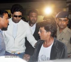 Abhishek Bachchan with Shahrukh Khan snapped at Mumbai Airport