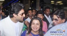 Happy New Year film team snapped at Mumbai International airport