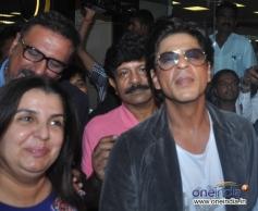 Happy New Year film starcast Shahrukh Khan and Boman Irani with Film maker Farah Khan