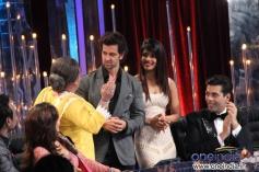 Hrithik Roshan and Priyanka Chopra during on the sets of Jhalak Dikhhla Jaa 6 Super Finale