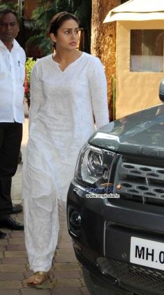Huma Qureshi arrive at Madhuri Dixit father's prayer meet