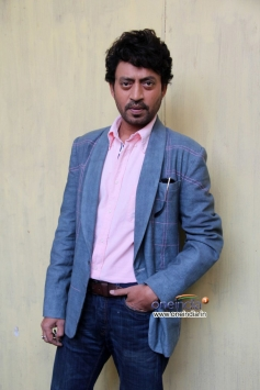 Irrfan Khan snapped during the film promotion of The Lunchbox