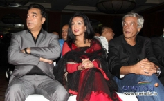 Kamal Haasan, Rituparna Sengupta and Sudhir Mishra during the Jagran Film Festival 2013 Closing Ceremony