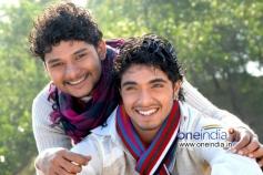 Rakesh and Chethan at Kannada Film Mandhahasa