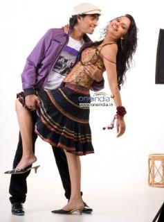 Chethan and Nikii at Kannada Film Mandhahasa