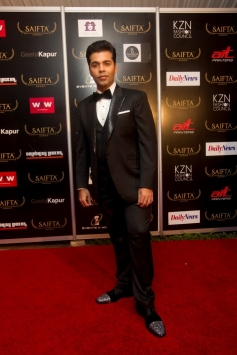 Karan Johar at the red carpet of SAIFTA