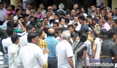Legendary actor Dilip Kumar was crowded by media