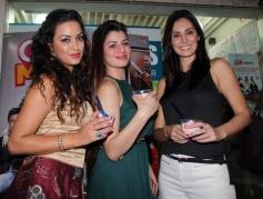 Maryam Zakaria, Kainaat Arora and Richa Chadda  during Grand Masti Flavour Launch at Yoghurtbay