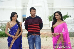 Milana, Darshan and Karthika Nair in Film Brindavana