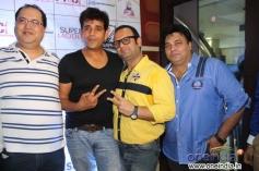 Navin Batra, Ravi Kishan and DJ Sheizwood with Ravi Ahlawat