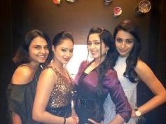 Nikesha Patel, Charmy Kaur and Trisha at SIIMA Awards 2013 Pre-Party