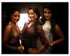 Nikesha Patel, Charmy Kaur and Trisha during SIIMA Awards 2013 Pre-Party