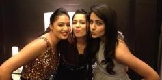 Nikesha Patel, Charmy Kaur and Trisha present at SIIMA Awards 2013 Pre-Party