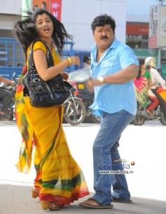 Poornima and Jaggesh in Kannada Movie Agraja