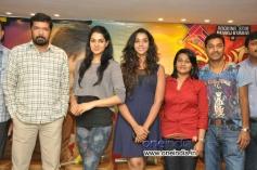 Sakshi Chowdhary, Anu Priya & Sirisha Lagadapati at Potugadu Success Meet