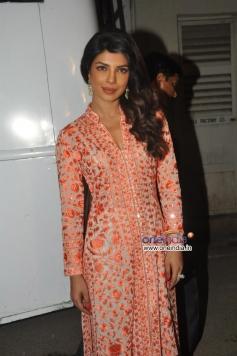 Priyanka Chopra snapped during Zanjeer film promotion on Bade Achhe Lagte Hain sets
